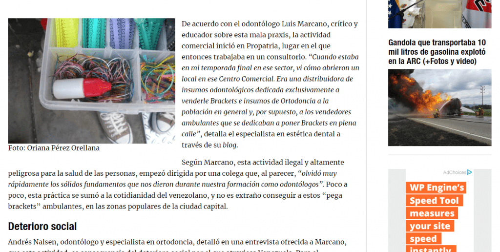 Od. Luis Marcano, medios de comunicación digitales