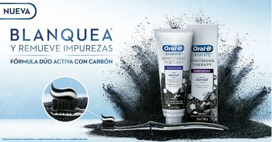 Oral B 3D White Whitening Therapy - Carbón Activado