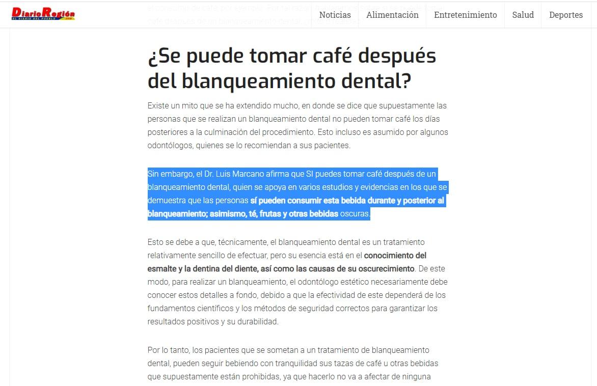 Diario Región - Odontólogo Luis Marcano